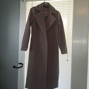 NWT Misguided Longline Duster Coat (Sz 0) (B-E1)